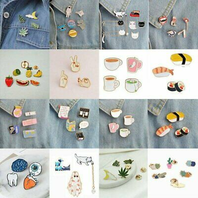 3/4/5/6/7/8 pcs/set Girl Fun Cute Collar Pins Badge Corsage Cartoon Brooch Pin
