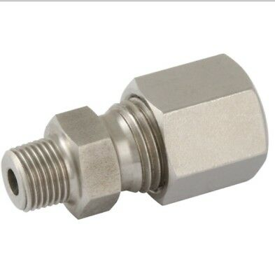 316 S/steel Stud Couplings X Bspt Male Thread, Compression Fittings ( S Series )