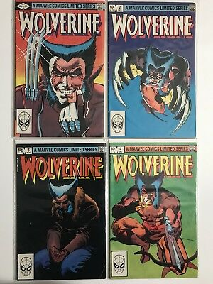 WOLVERINE First Mini Series #1-4 1982, Comics All Have Spider-Man Bar Code