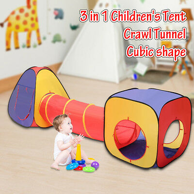3 in 1 Folding Kid Ball Pool Tunnel Toy Tent Game Children Kids Ocean Play House