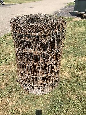 Vintage  Woven Wire round top garden fence gate trellis approx 75 ft x 37 inches
