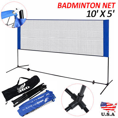 "10""X5"" Adujstable Badminton Net Tennis Volleyball with Stand Frame Outdoor Beach"