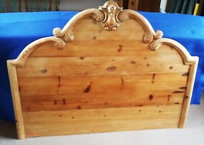 Antique French Pine Bed Headboard