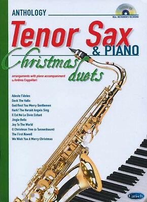 Anthology Christmas Duets for Tenor Sax & Piano. Sheet Music, CD for Saxophone,