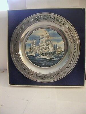 Danbury Mint THE TALL SHIPS Collector Plate with Original Box.