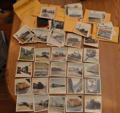 Estate Lot Of 550 Vintage Train Photographs & Negatives From The 1960's-Amazing