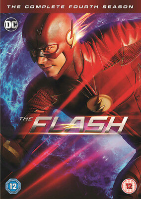 The Flash: The Complete Fourth Season DVD (2018) Grant Gustin cert 12 5 discs