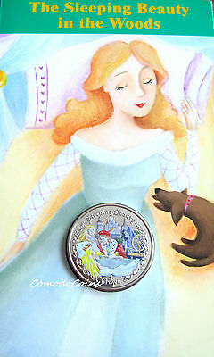 2007 Isle Of Man Crown Coin Sleeping Beauty Presentation Fairy Tales Pack Rare *
