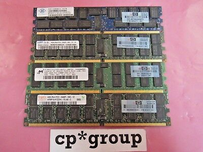 8GB PC2-5300F HP 405477-061 2Rx4 FBDIMM ECC Server RAM Memory 2x4GB