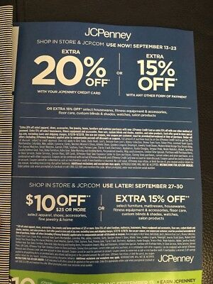 JCPENNEY Coupons 15 20 Off Or 10 25 Look At Dates