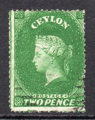 Ceylon 2 Pence Stamp c1861-64 Used (SG 20)  (clean cut perf) (3)