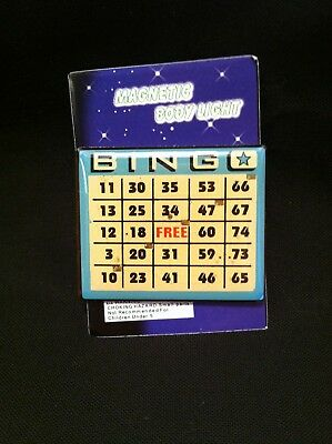 BINGO - Magnetic Body Light Bingo Card Pin