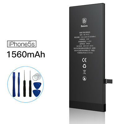 Baseus 1560mAh Replacement Internal Li-Ion Battery for iPhone 5s +Tools Kits