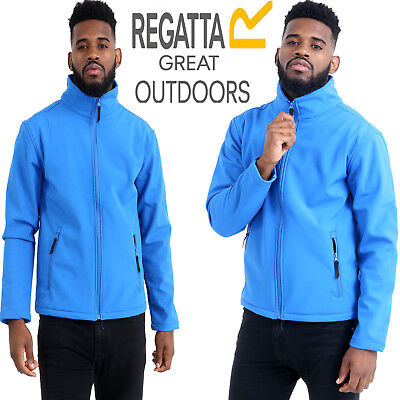 Regatta Mens Softshell Water Repellent Jacket And Wind Resistant Zip Up Coat New