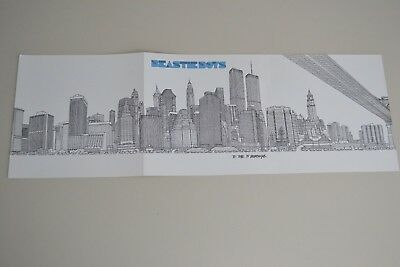 "Beastie Boys 2004 NYC Skyline "" To The 5 Boroughs "" US Promo Poster double sided"