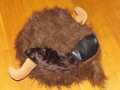 Dianne Shapiro Soft Sculpture Plush Stuffed Animal Buffalo Head Wall Hanging Zoo