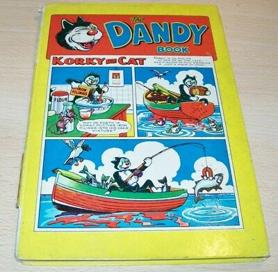 The DANDY Book 1958 hardback annual - Korky The Cat cover