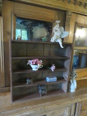 SUPER ANTIQUE FRENCH WOODEN SHELVES ~ PERIOD DISPLAY / STORAGE EARLY 1900's