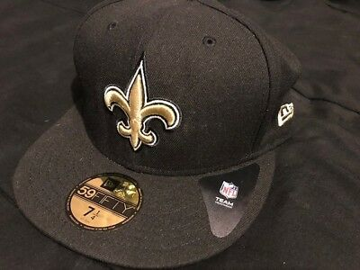 save off d3a1f ee496 New Era 59Fifty Cap NFL New Orleans Saints Mens Womens Black On Field 5950  Hat
