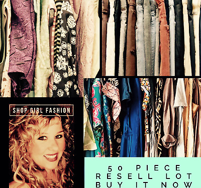 Women's Clothing Resell Lot 50 Pieces Wholesale Seller Mystery Brand Name