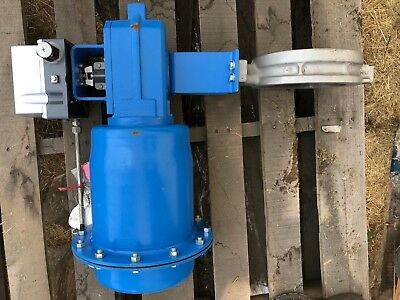 """Jamesbury Butterfly Valve 6"""" 150# 815W-11-36000-TT w/ Actuator and ND9106"""