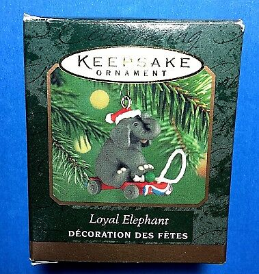 "Hallmark ""Loyal Elephant"" Miniature Ornament 2000"
