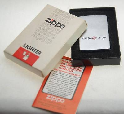Fine Vintage Zippo Advertising Lighter General Electric 1979 New in Box w/Papers