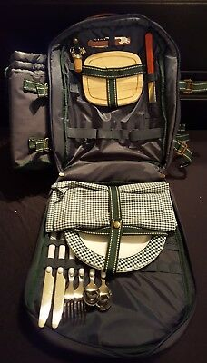 Picnic At Ascot Backpack in Good Condition with service for two