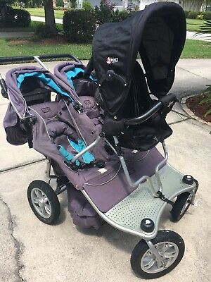 valco trimode double stroller with jump seat