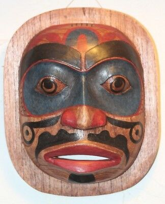 Quality Hand Carved Wooden Reproduction Native American Moon Mask 180Mmx 220Mm
