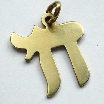 Vintage Solid 9ct Gold Chinese Symbol Pendant Charm For Necklace