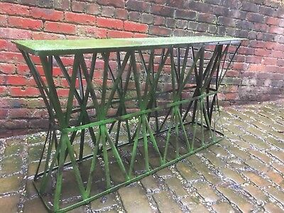 Metal Garden Long Planting Table Beautifully Aged Lovely Item !