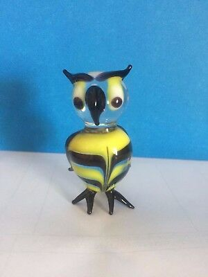 Blown Glass Owl Figurine