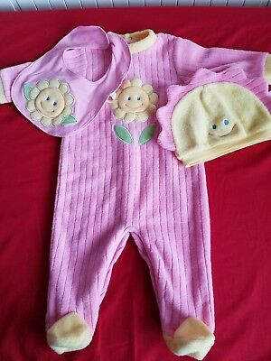 Baby Girl Three Piece Suit Age 6 Months Pink