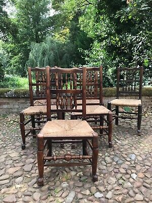 18th century spindle back dining chairs