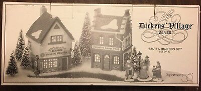 Dept 56 Dickens Village The Spirit Of Giving Start a Tradition Set New in Box