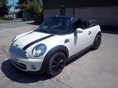 2012 Mini Convertible Cooper 1.6 Petrol White Light Damaged Salvage Cat S