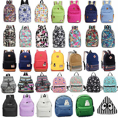Womens Girls Backpack Shoulder Bag School Travel Laptop Bookbag Rucksack Satchel
