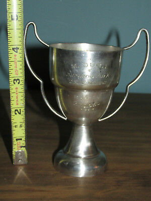 Vintage Silver Plated? USAF SOCCER 1955-56 ENGLAND TROPHY Cup Unique Old