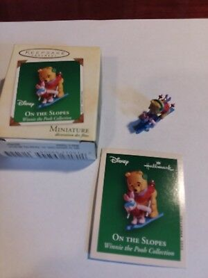 Hallmark Keepsake Miniature Ornament 2002 On the Slopes Winnie the Phoo series