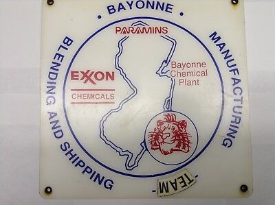 Exxon Corp. Bayonne Chemical Plant Industrial Sign