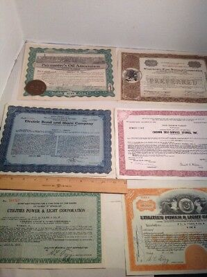 Vintage Oil Stock Certificate And More Lot 1