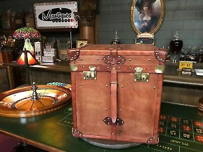 """Leather Storage Chest Trunk  """"WATCH VIDEO"""""""