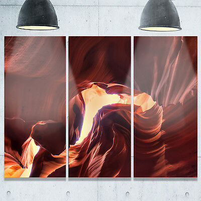 Designart - Stone Structures In Lower Antelope Canyon - Photo Glossy Metal Wall