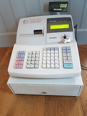 Electronic Till cash register Sharp XE-A303 perfect working order