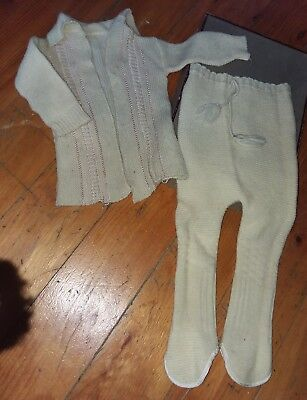 Vintage Child's or Doll's 100% Wool Jacket & snow pants Set. Amazing find.