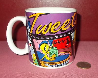 1995 Applause Looney Tunes TWEETY CLASSIC Ceramic MUG Cup Warner Bros 29347 ^