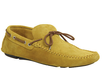 Mens Ask the Missus Yellow Suede Slip on  Casual Shoes Size UK 9 * Ex Display