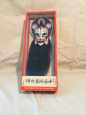 Chinese Painted Chinese Opera Mask of Chang-Fe in Display Box