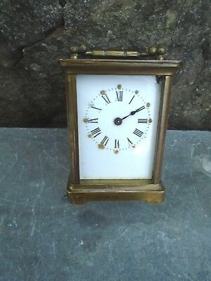 Small Antique French Carriage Clock Needing Attention